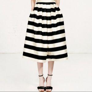 Tibi Escalante Striped Full Silk Skirt Size 6